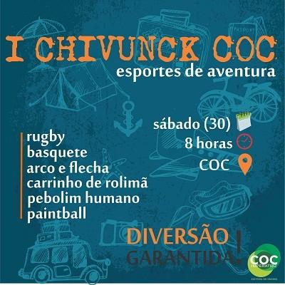 """""""I Chivunck COC, esportes de aventura"""" será realizado sábado"""