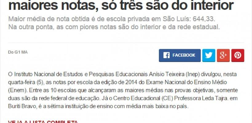 COC IMPERATRIZ É DESTAQUE NO ENEM 2014
